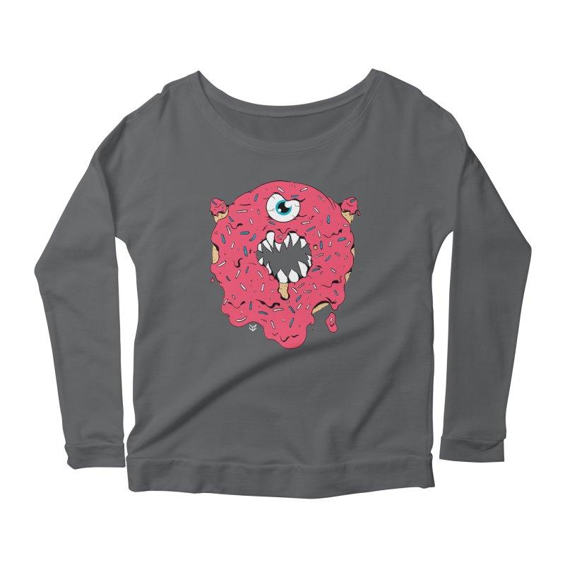 Demon Donut (pink) Women's Longsleeve T-Shirt by James Zintel