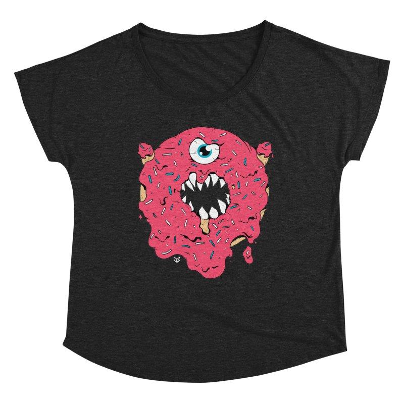 Demon Donut (pink) Women's Scoop Neck by James Zintel