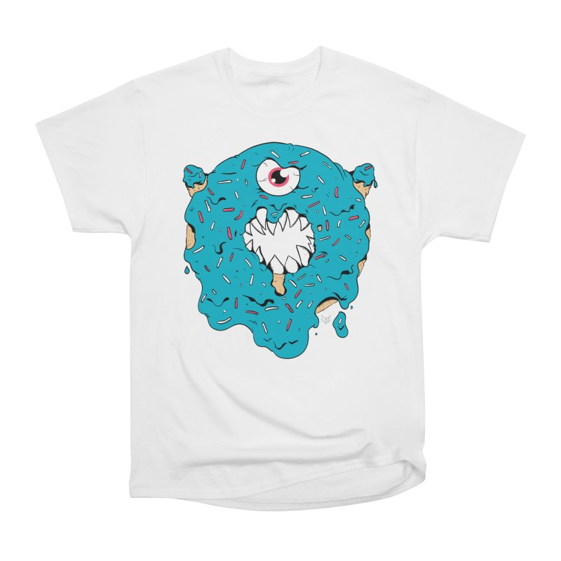 Demon Donut (blue) Women's T-Shirt by James Zintel