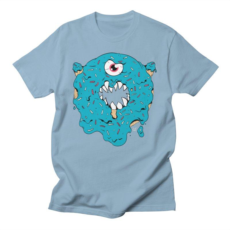 Demon Donut (blue) Men's T-Shirt by James Zintel