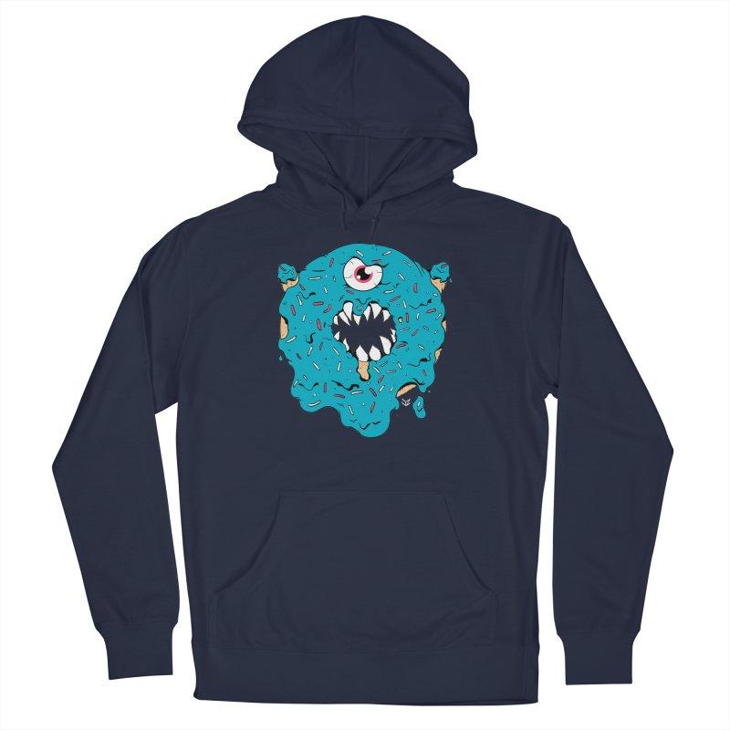 Demon Donut (blue) Men's Pullover Hoody by James Zintel