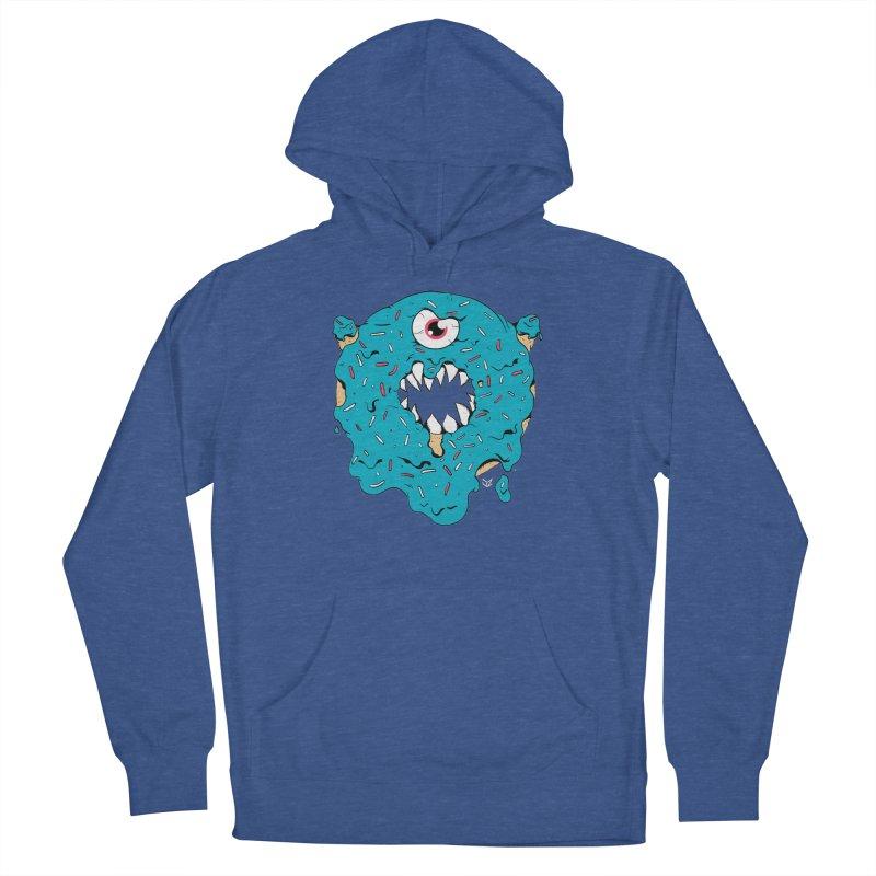 Demon Donut (blue) Women's Pullover Hoody by James Zintel