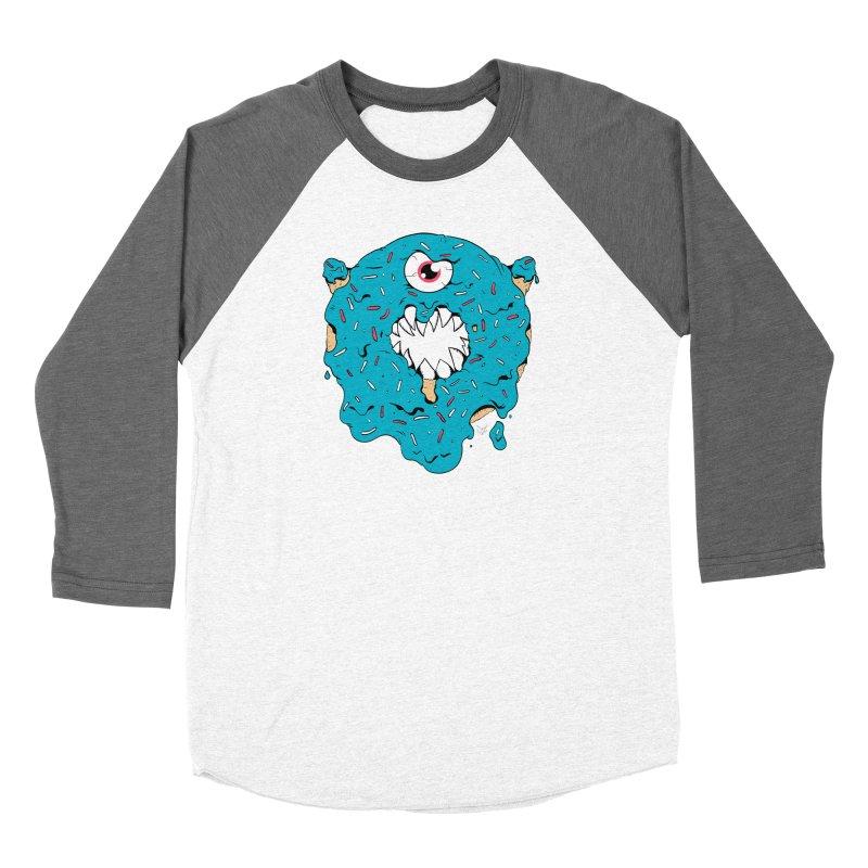 Demon Donut (blue) Women's Longsleeve T-Shirt by James Zintel