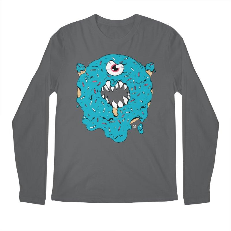 Demon Donut (blue) Men's Longsleeve T-Shirt by James Zintel