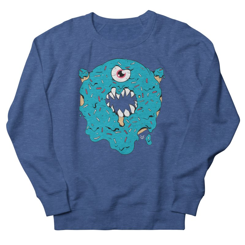 Demon Donut (blue) Men's Sweatshirt by James Zintel