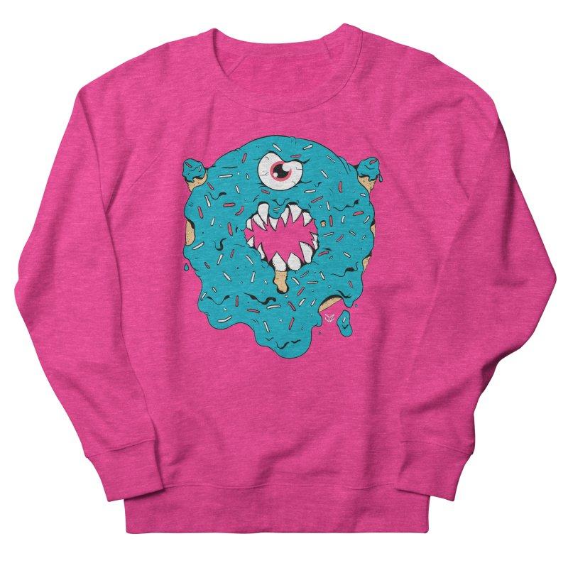 Demon Donut (blue) Men's Sweatshirt by James Zintel