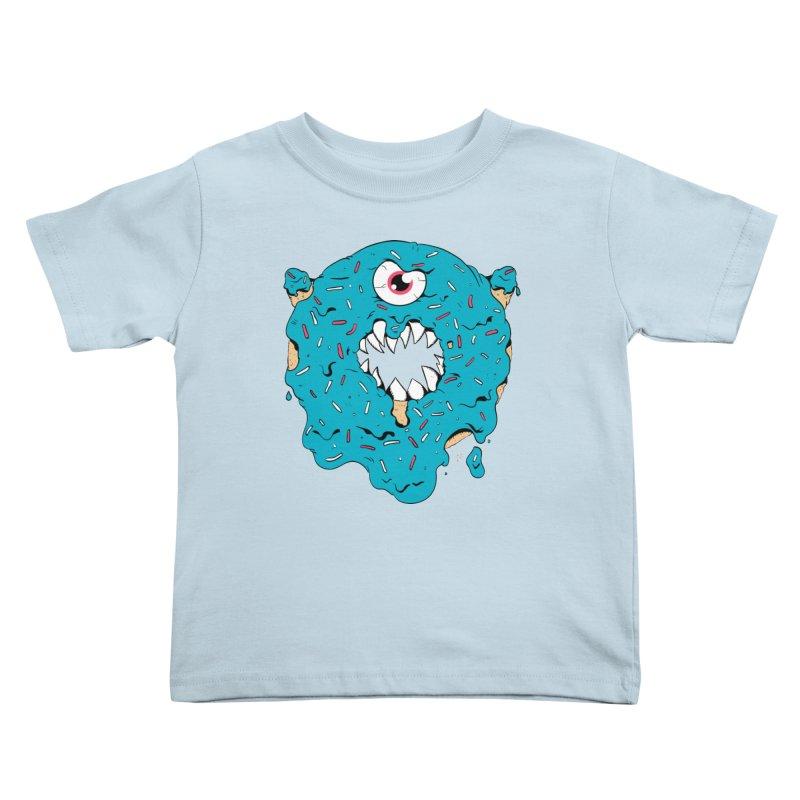 Demon Donut (blue) Kids Toddler T-Shirt by James Zintel