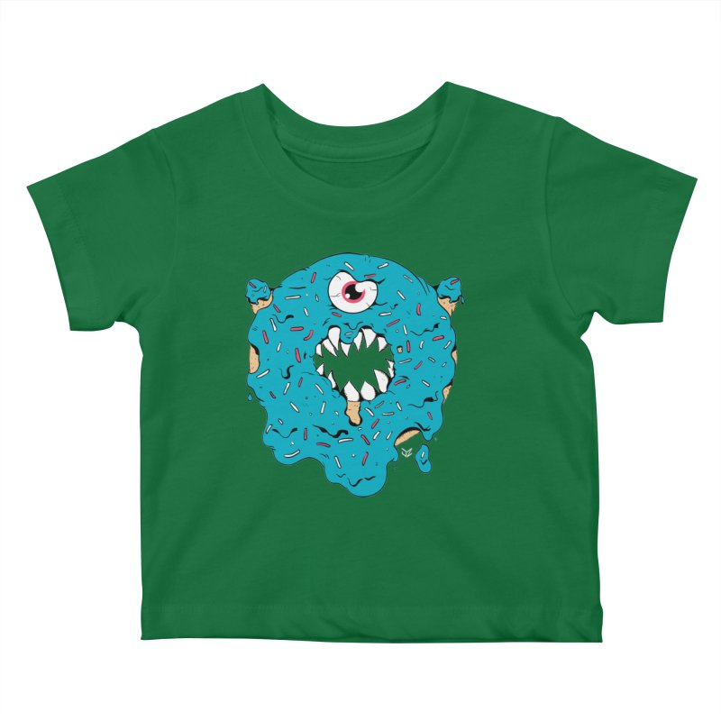 Demon Donut (blue) Kids Baby T-Shirt by James Zintel
