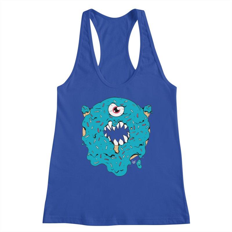 Demon Donut (blue) Women's Tank by James Zintel