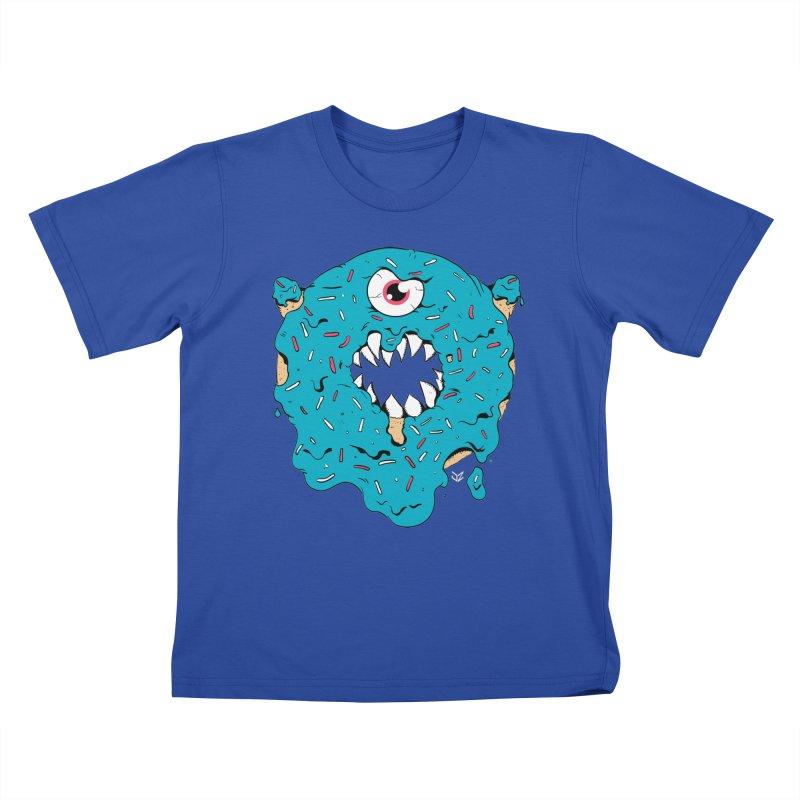 Demon Donut (blue) Kids T-Shirt by James Zintel