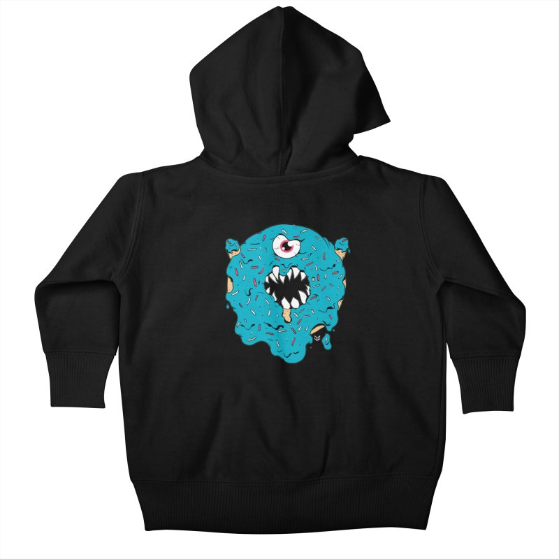 Demon Donut (blue) Kids Baby Zip-Up Hoody by James Zintel