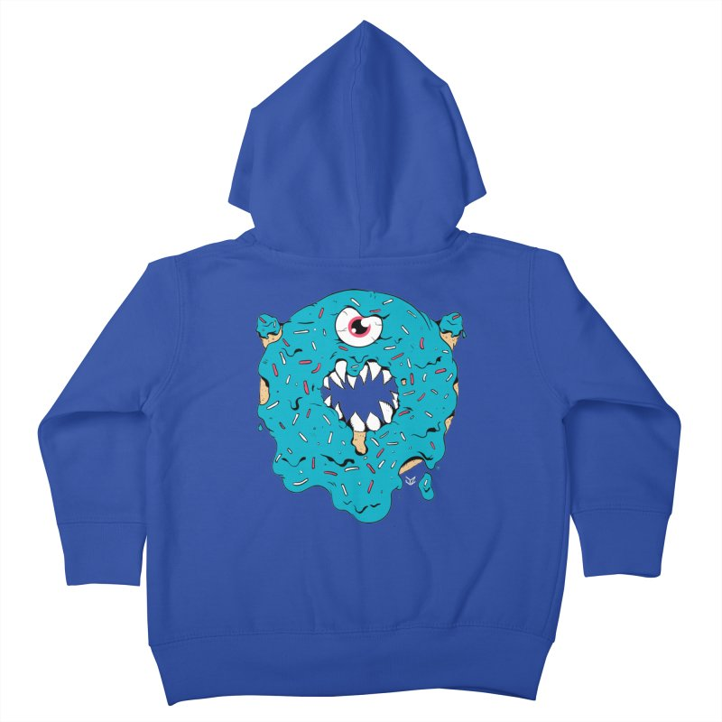 Demon Donut (blue) Kids Toddler Zip-Up Hoody by James Zintel