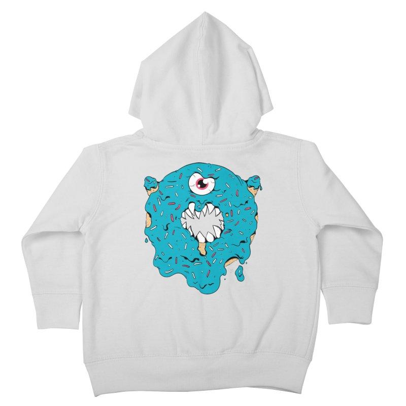 Demon Donut (blue) Kids Toddler Zip-Up Hoody by James Zintel
