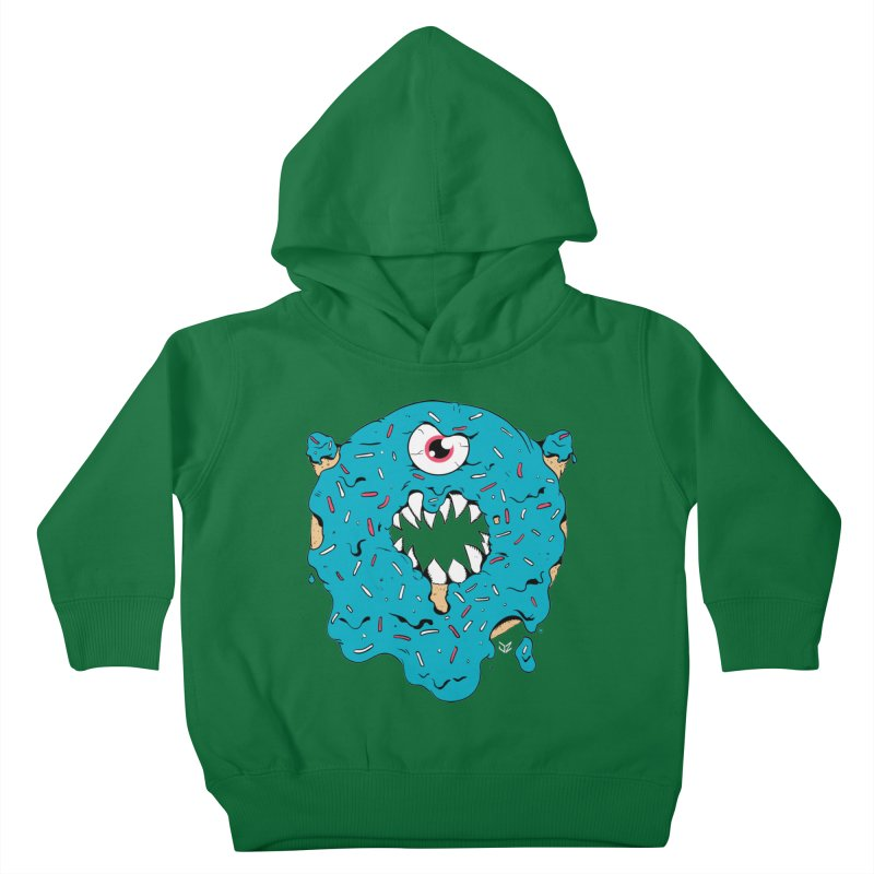 Demon Donut (blue) Kids Toddler Pullover Hoody by James Zintel