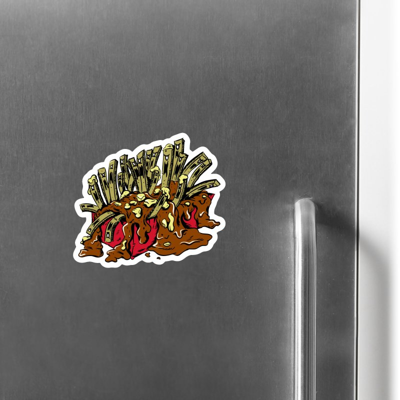 Poutine of Evil Accessories Magnet by James Zintel