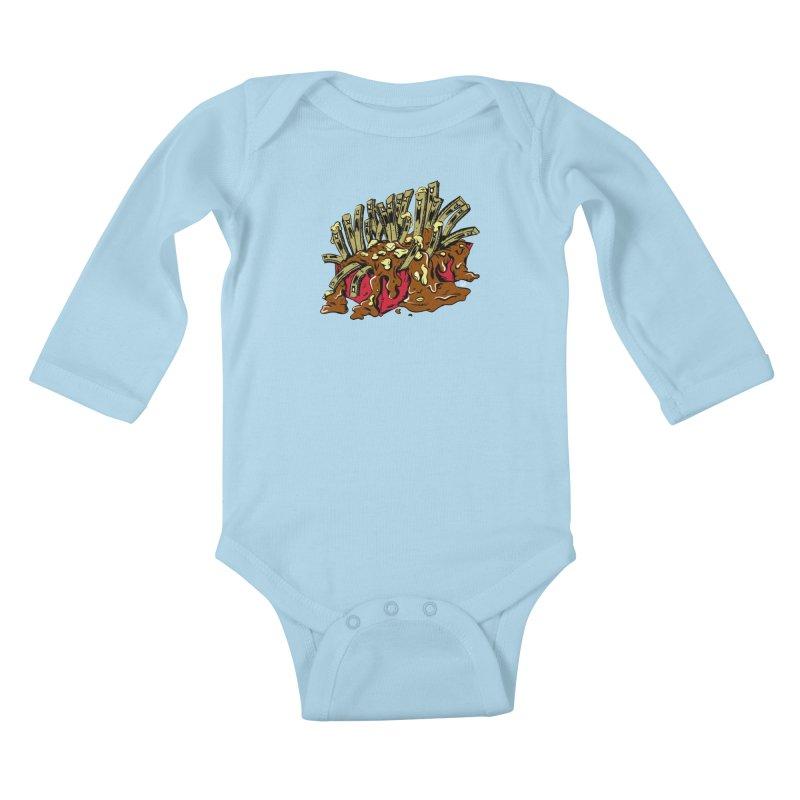 Poutine of Evil Kids Baby Longsleeve Bodysuit by James Zintel