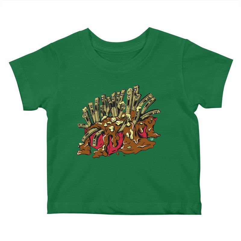 Poutine of Evil Kids Baby T-Shirt by James Zintel