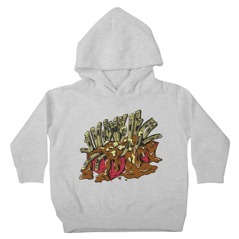 Poutine of Evil Kids Toddler Pullover Hoody by James Zintel