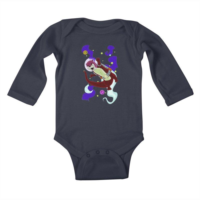 Otter Space Kids Baby Longsleeve Bodysuit by James Zintel