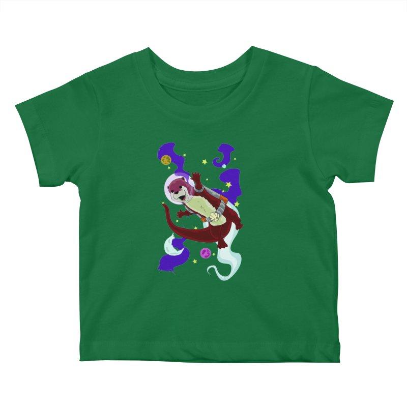 Otter Space Kids Baby T-Shirt by James Zintel