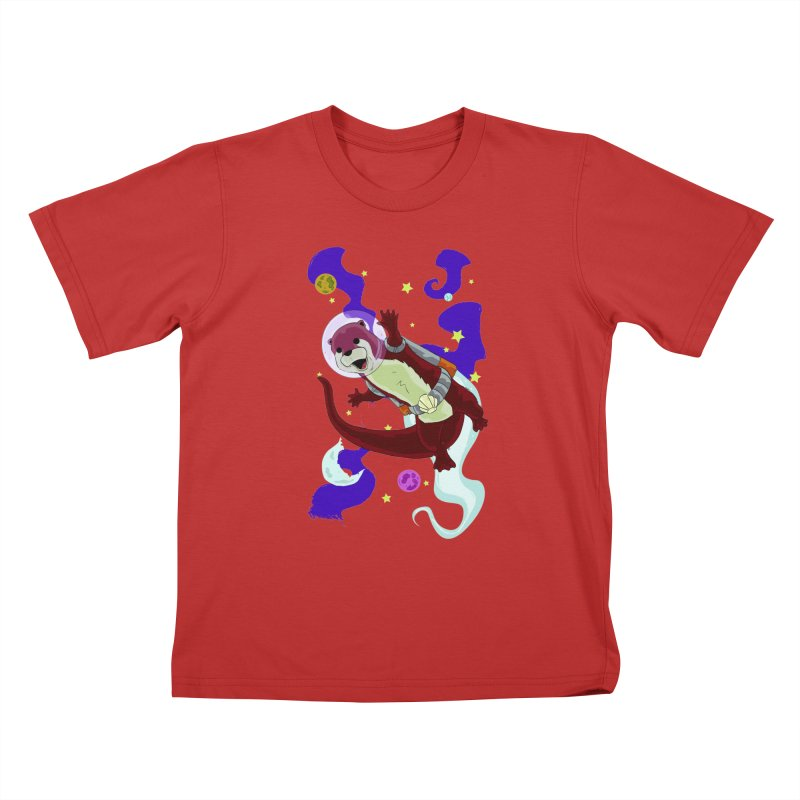 Otter Space Kids T-Shirt by James Zintel