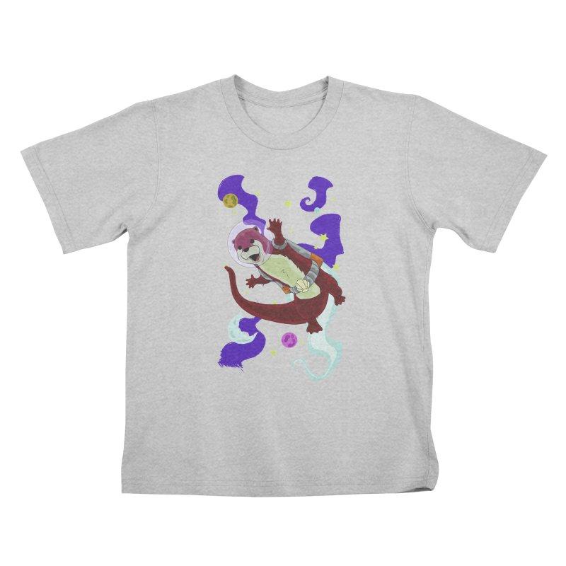 Otter Space Kids T-Shirt by James Zintel