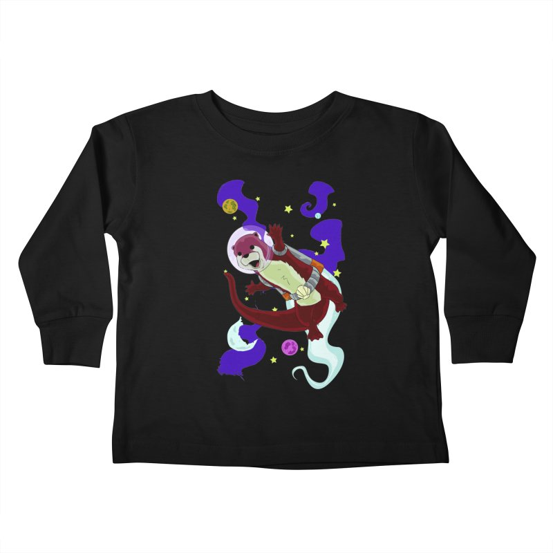 Otter Space Kids Toddler Longsleeve T-Shirt by James Zintel