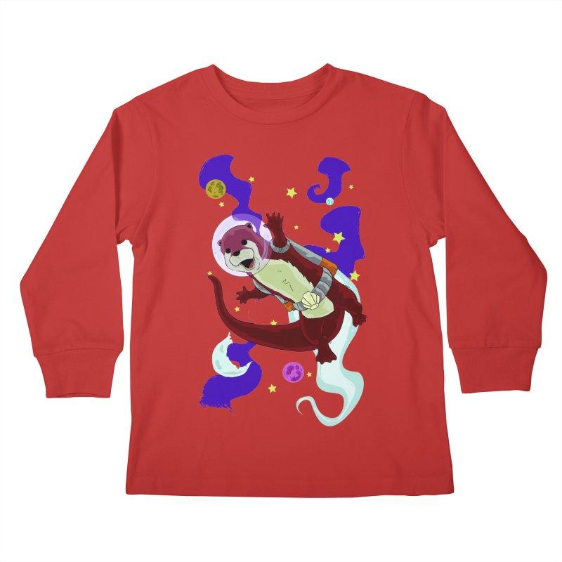 Otter Space Kids Longsleeve T-Shirt by James Zintel
