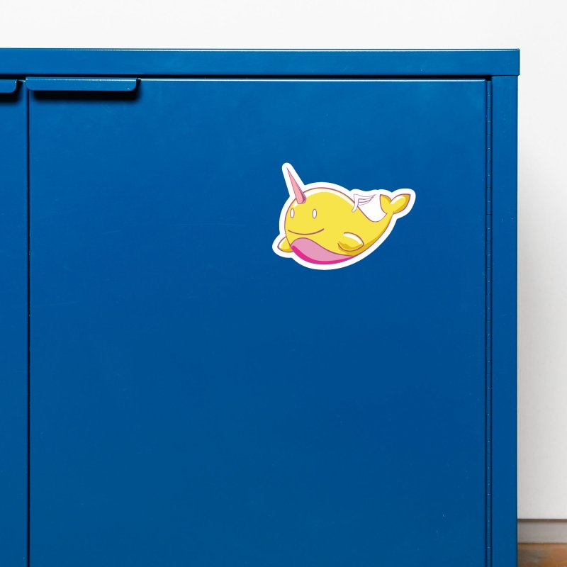 Adorablwhales - Narwhallace Accessories Magnet by James Zintel