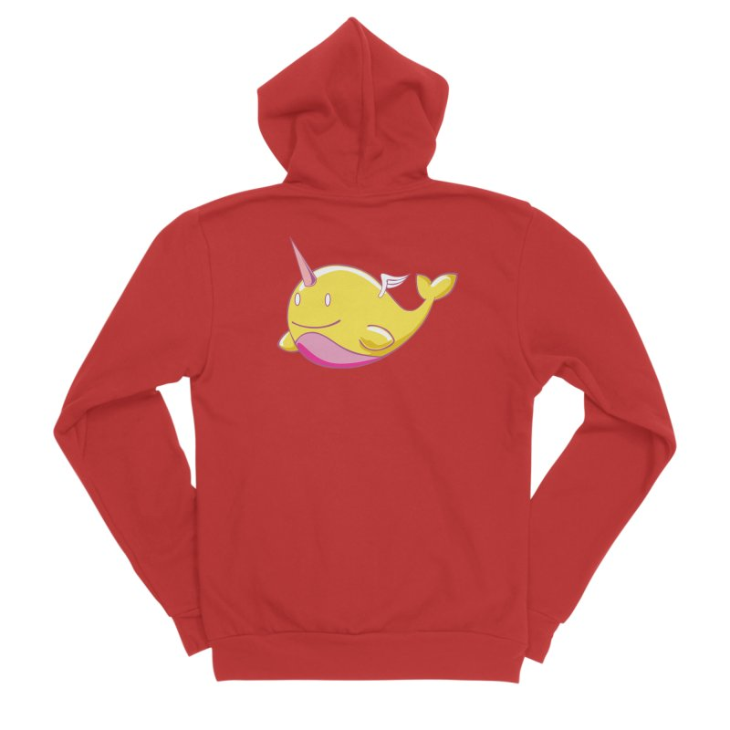 Adorablwhales - Narwhallace Men's Zip-Up Hoody by James Zintel