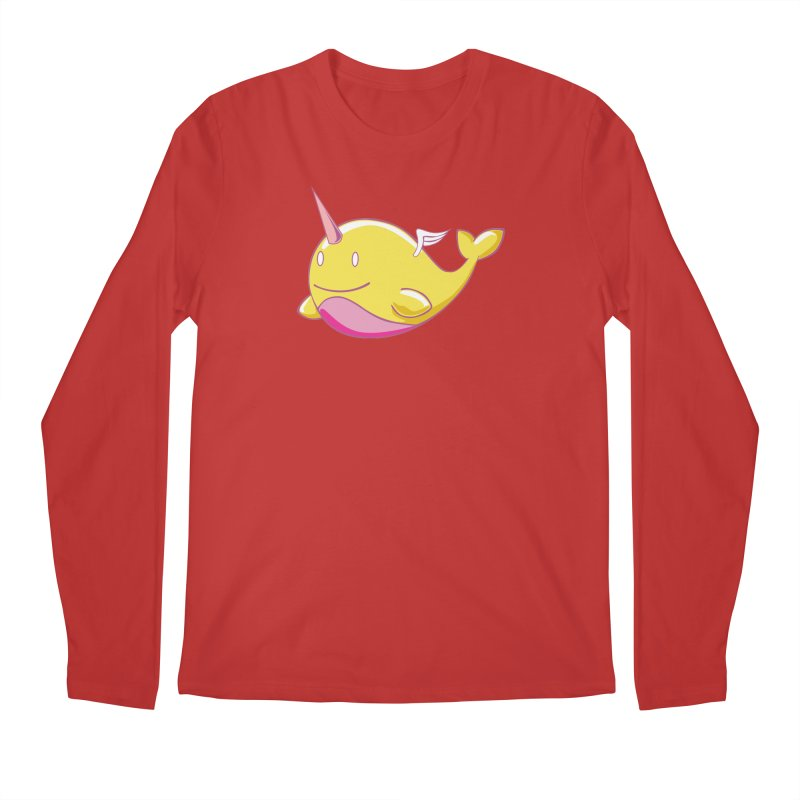 Adorablwhales - Narwhallace Men's Longsleeve T-Shirt by James Zintel