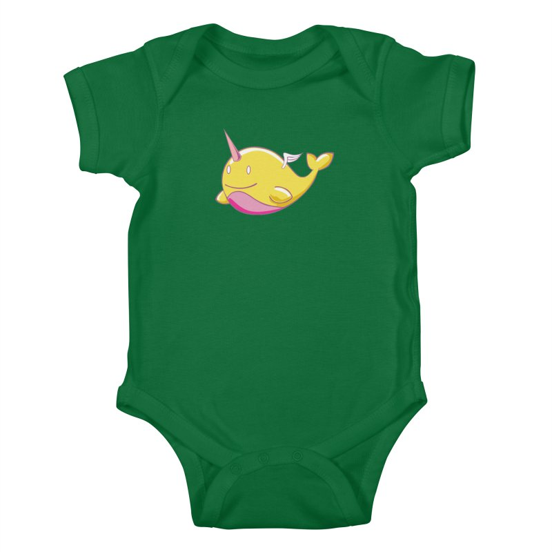 Adorablwhales - Narwhallace Kids Baby Bodysuit by James Zintel