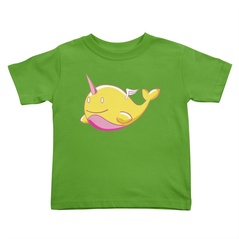 Adorablwhales - Narwhallace Kids Toddler T-Shirt by James Zintel