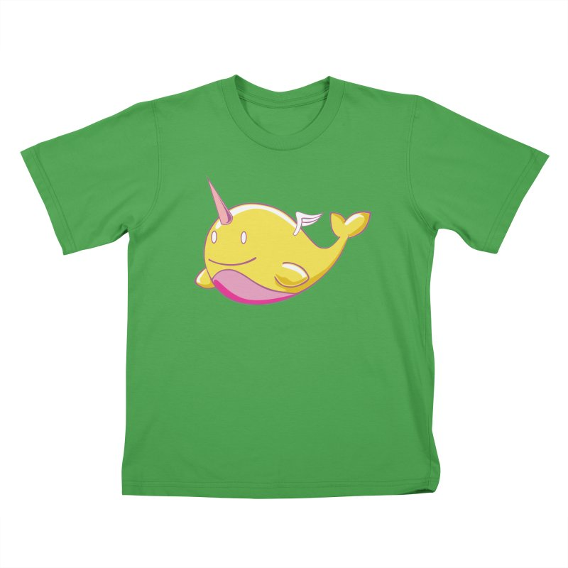 Adorablwhales - Narwhallace Kids T-Shirt by James Zintel