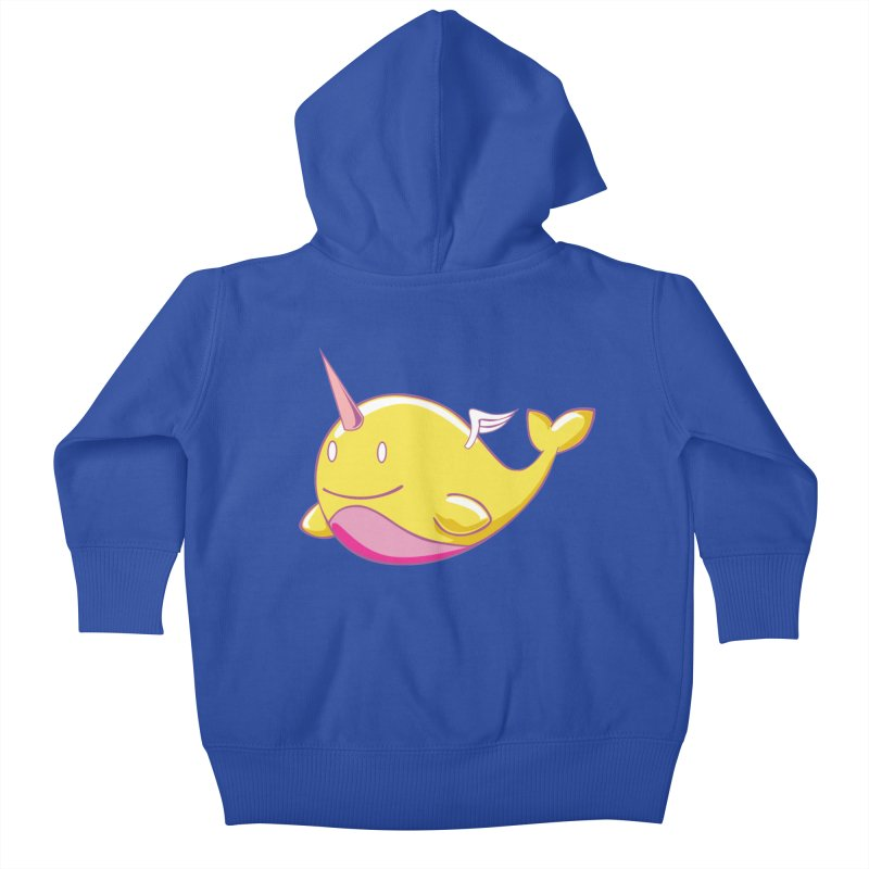Adorablwhales - Narwhallace Kids Baby Zip-Up Hoody by James Zintel