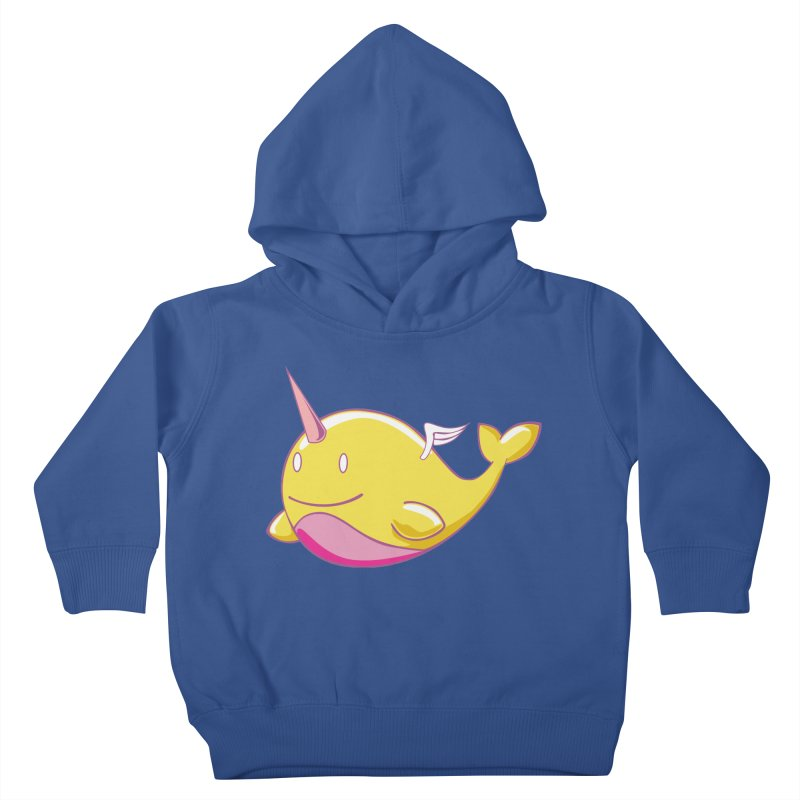 Adorablwhales - Narwhallace Kids Toddler Pullover Hoody by James Zintel