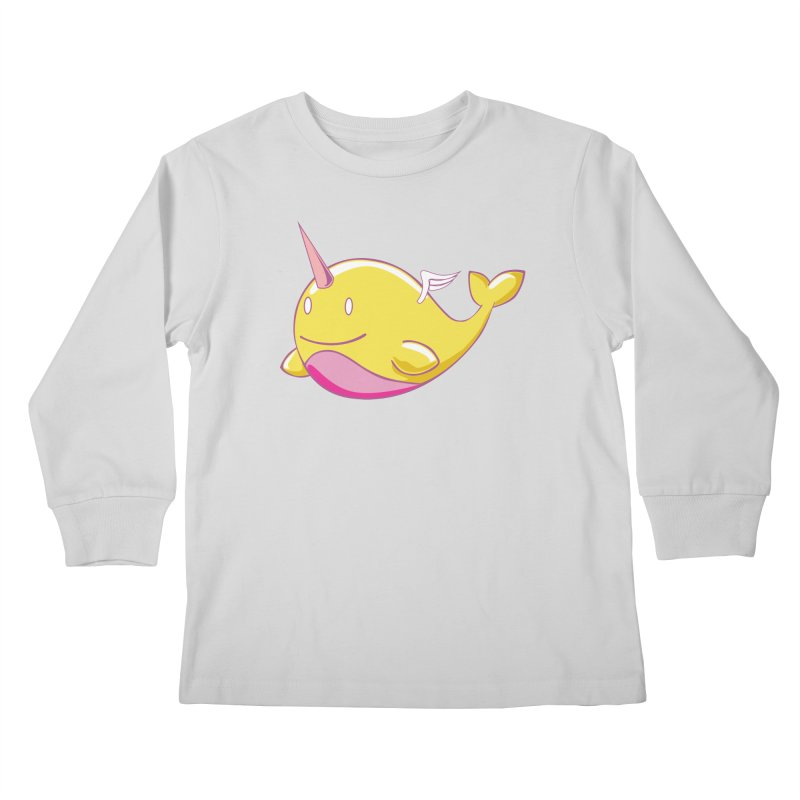 Adorablwhales - Narwhallace Kids Longsleeve T-Shirt by James Zintel
