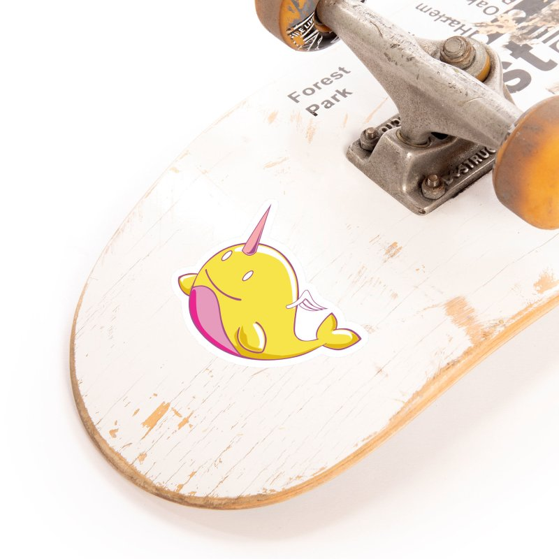 Adorablwhales - Narwhallace Accessories Sticker by James Zintel