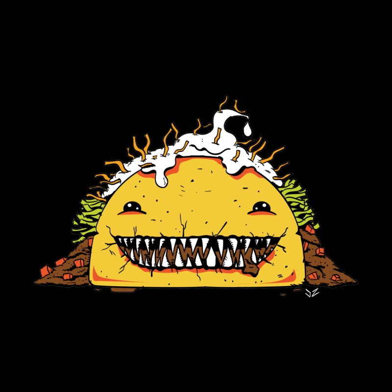 Terror Taco Men's T-Shirt by James Zintel