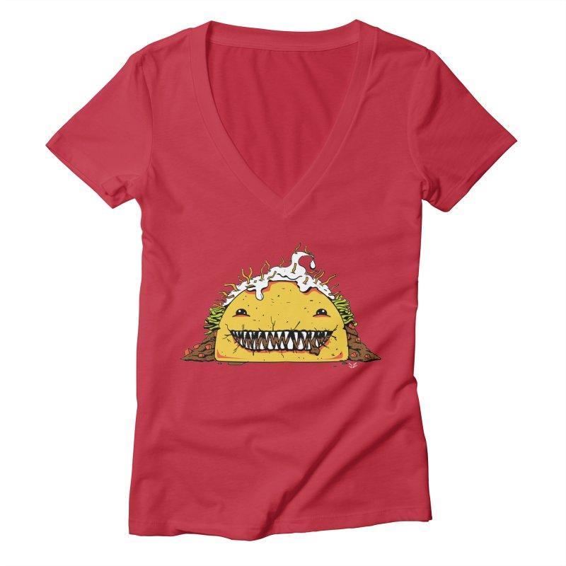 Terror Taco Women's V-Neck by James Zintel