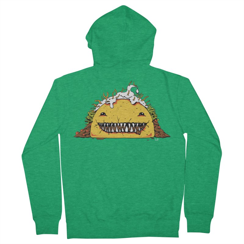 Terror Taco Men's Zip-Up Hoody by James Zintel