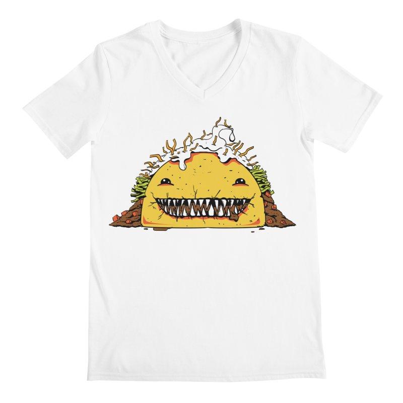 Terror Taco Men's V-Neck by James Zintel