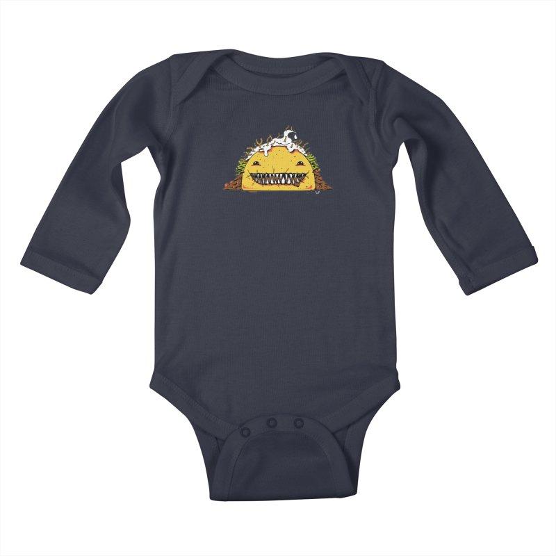 Terror Taco Kids Baby Longsleeve Bodysuit by James Zintel