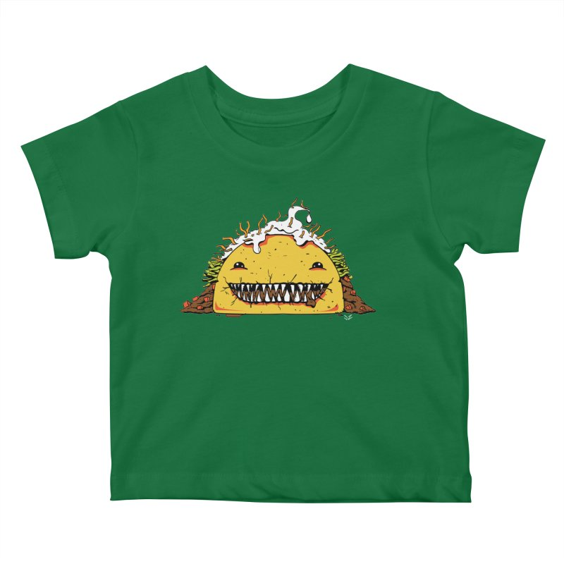 Terror Taco Kids Baby T-Shirt by James Zintel