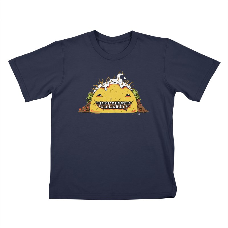 Terror Taco Kids T-Shirt by James Zintel