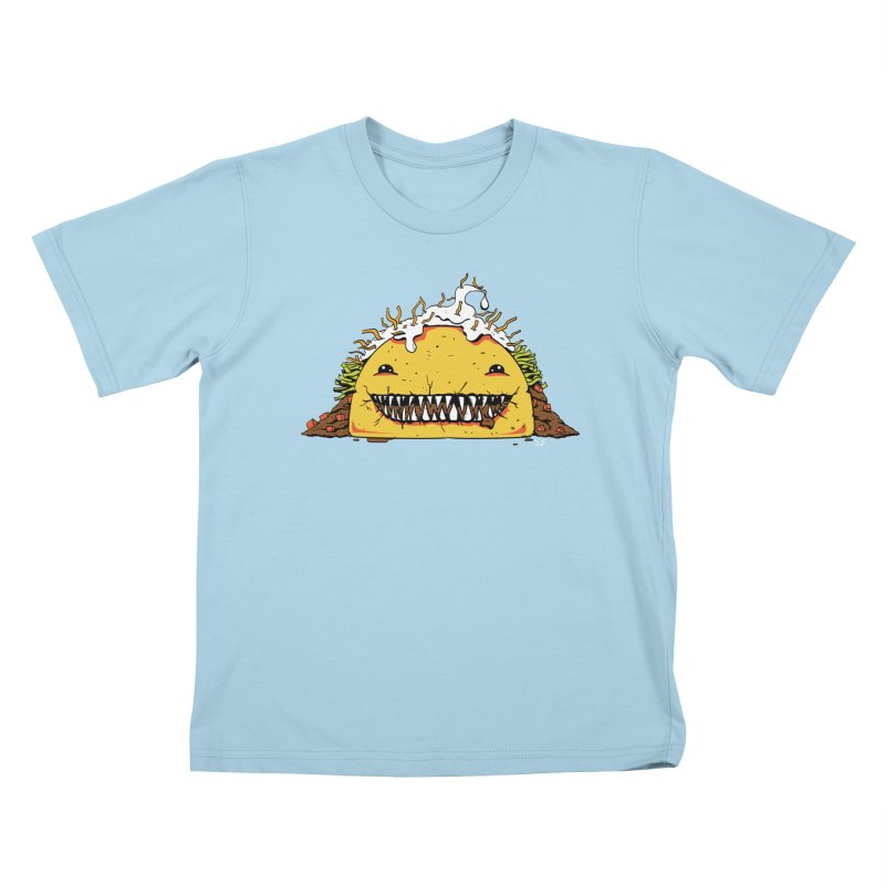 Terror Taco Kids T-Shirt by James Zintel