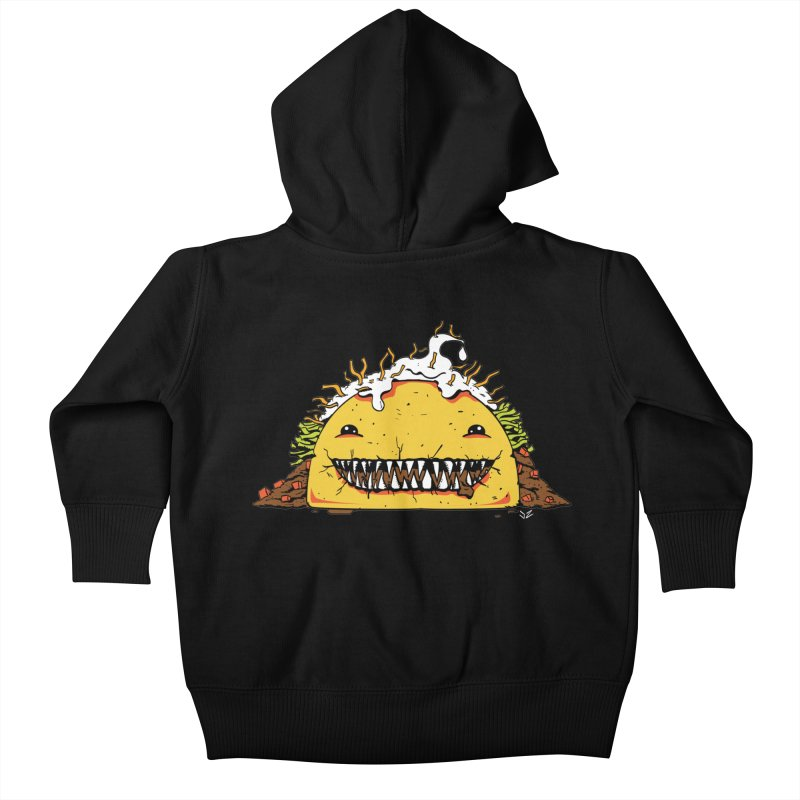 Terror Taco Kids Baby Zip-Up Hoody by James Zintel