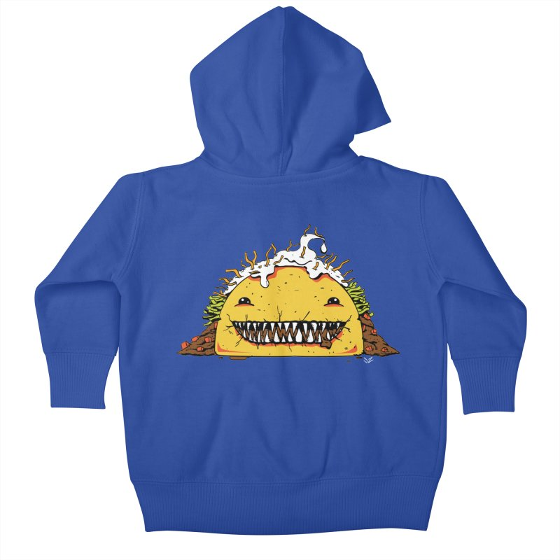 Terror Taco Kids Baby Zip-Up Hoody by James Zintel