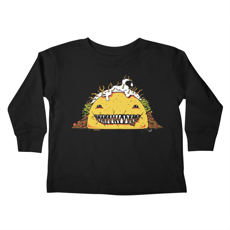 Terror Taco Kids Toddler Longsleeve T-Shirt by James Zintel