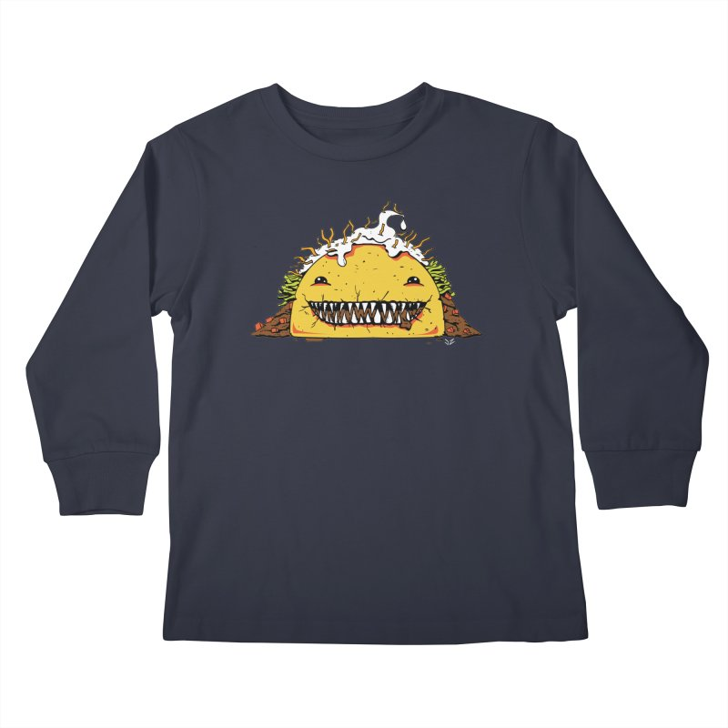 Terror Taco Kids Longsleeve T-Shirt by James Zintel